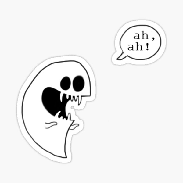 OFF - ah, ah! Sticker