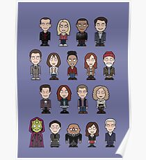 New Who Doctors and Companions (poster/card/notebook) Poster