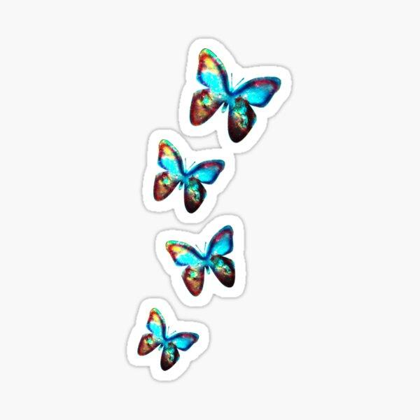 Space Butterfly, Schmetterlinge, Galaxie, Universum, Planet, Natur Sticker