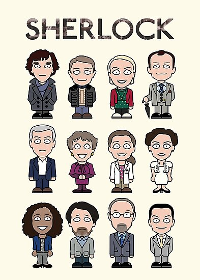 Sherlock and Friends (poster/card/notebook) by redscharlach
