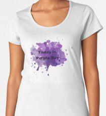 Heute ist lila Tag Frauen Premium T-Shirts