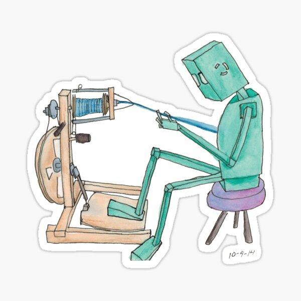 Spinning Robot Sticker