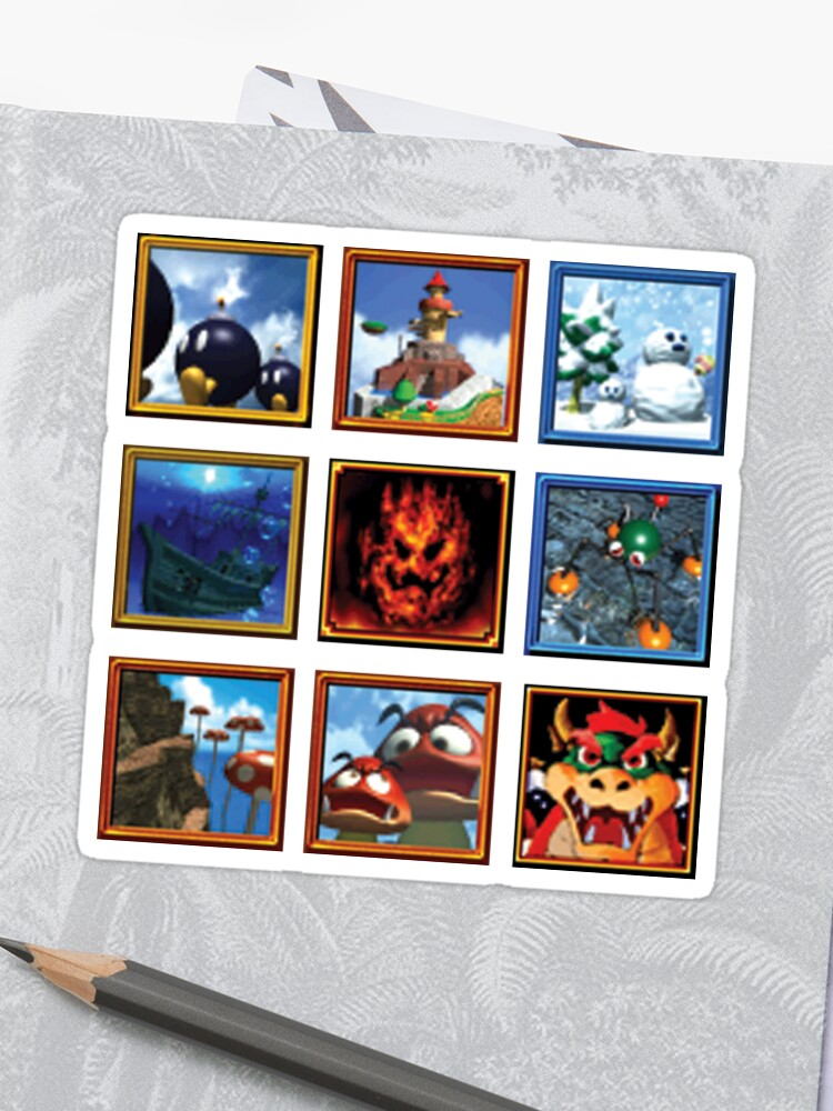 Super Mario 64 Paintings | Stickers