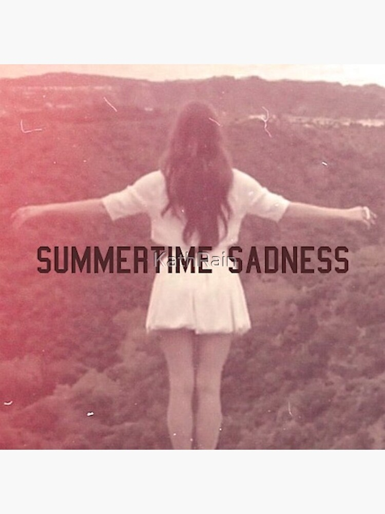 Lana Del Rey Summertime Sadness Greeting Card By Kathrain Redbubble