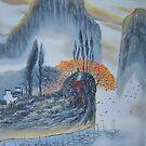 Chinese landscape painting by diasha