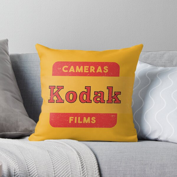 Kodak Camera & Films Throw Pillow