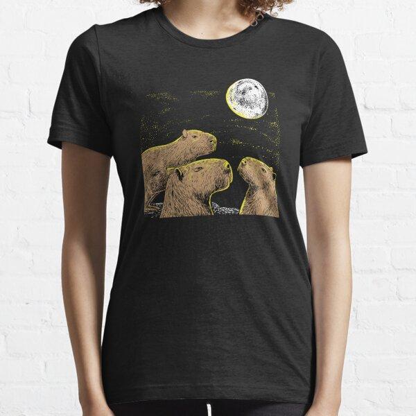 Three moon Capybaras shirt sloth, ferret lovers Essential T-Shirt