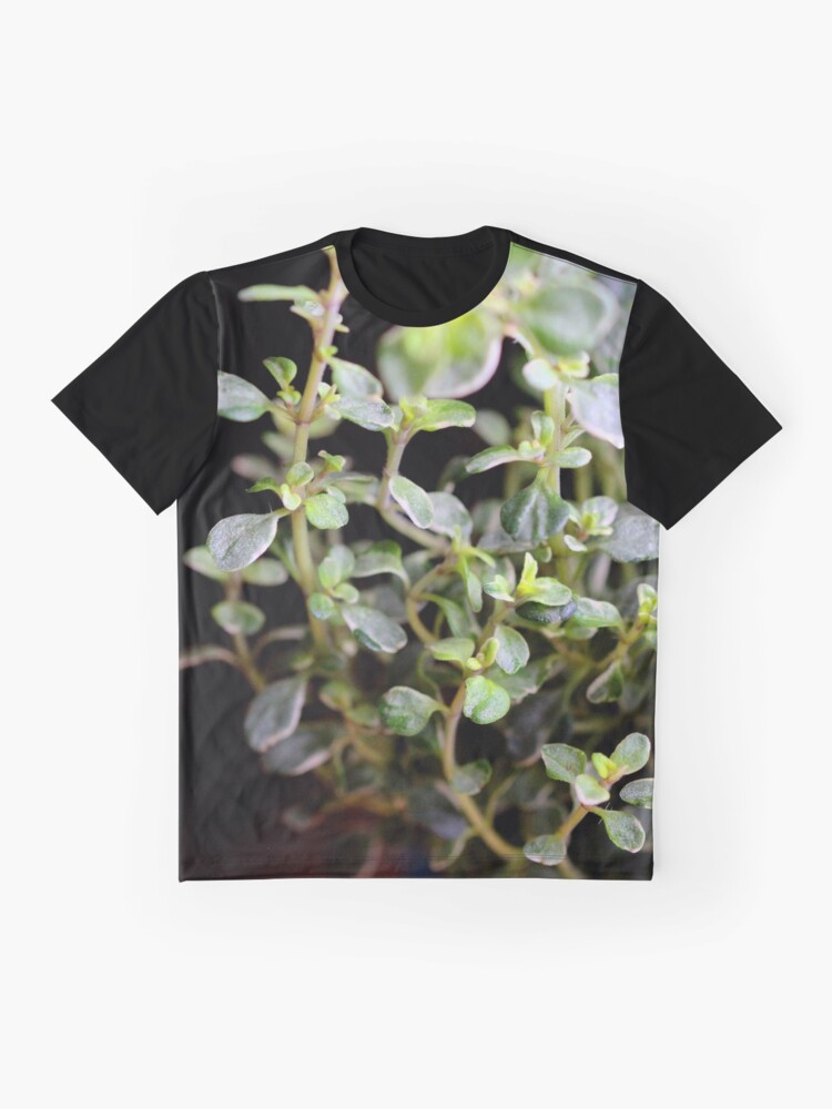 Alternate view of Thyme leaves Graphic T-Shirt