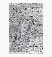 Wood Flooring... a doodle! Photographic Print