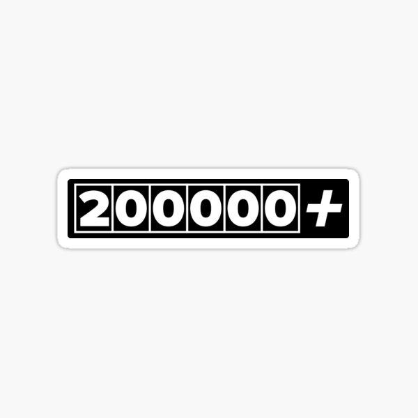 200000+ Miles JDM High Mileage Black Sticker