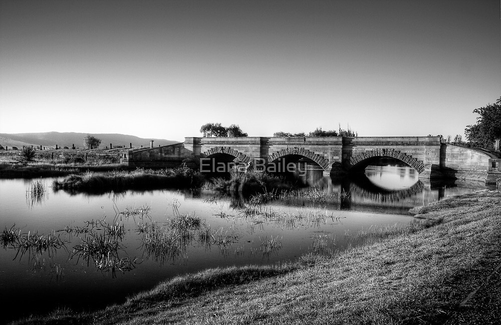 Ross Bridge in HDR & monochrome by Elana Bailey