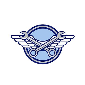 Crossed Spanner Air Force Wings Icon by patrimonio