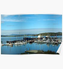 Boats in the harbour Poster