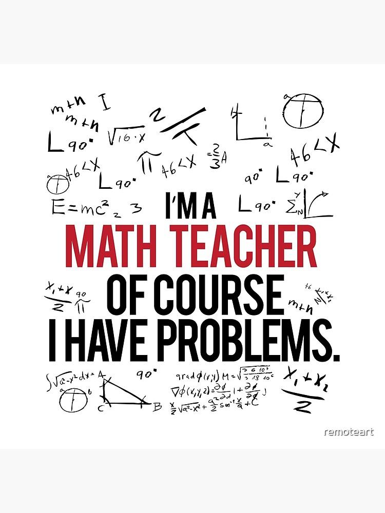 Mathe Lehrer mit Problemen von remoteart