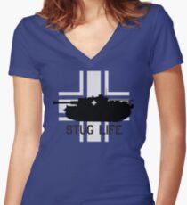 Stug Life Women's Fitted V-Neck T-Shirt