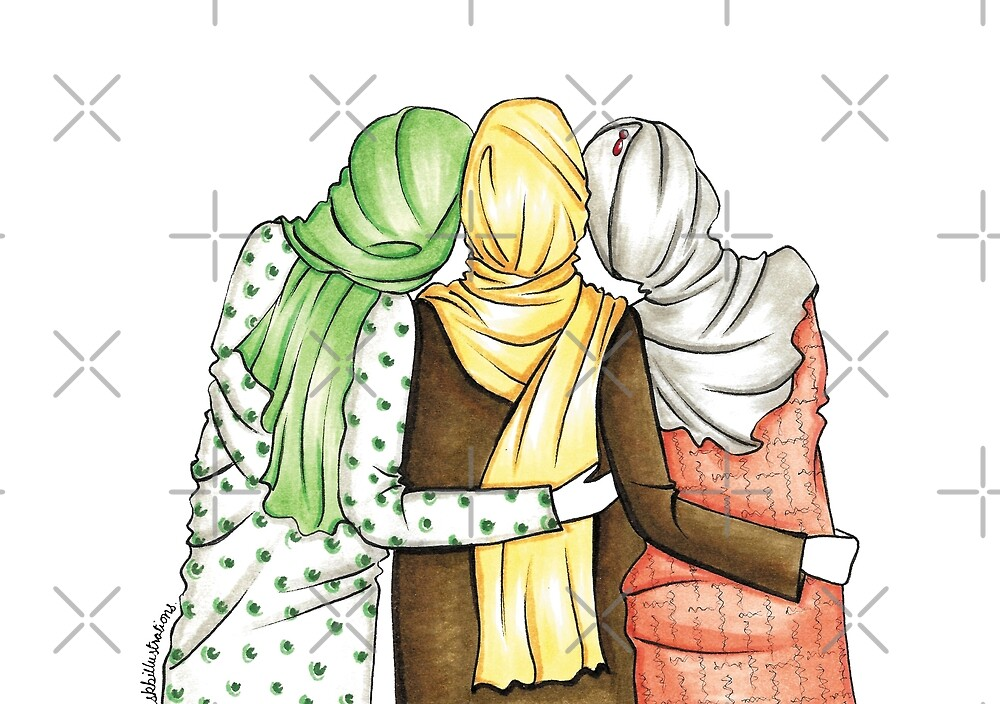 Friends Forever Group Of 3 Fashion Illustration Lifestyle