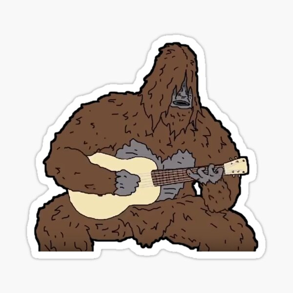 Sassy Playing Guitar Sticker