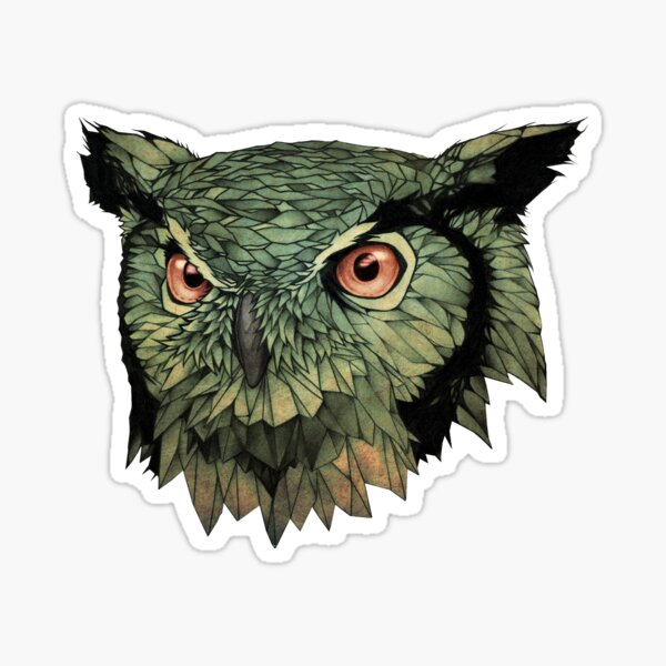 Owl - Red Eyes Sticker