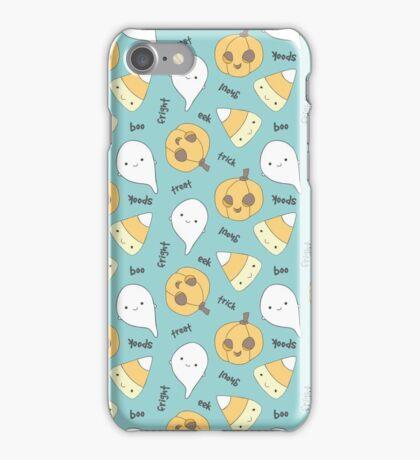 Trick Treat Boo (Blue) iPhone Case/Skin
