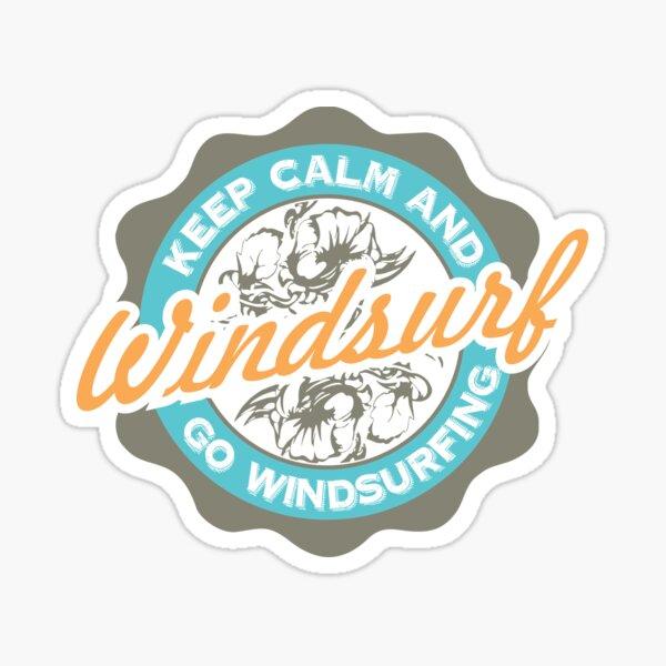 Keep Calm And Go Windsurfing Sticker