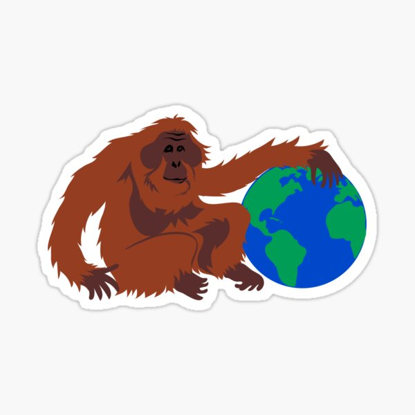 Earth Day Orangutan Sticker