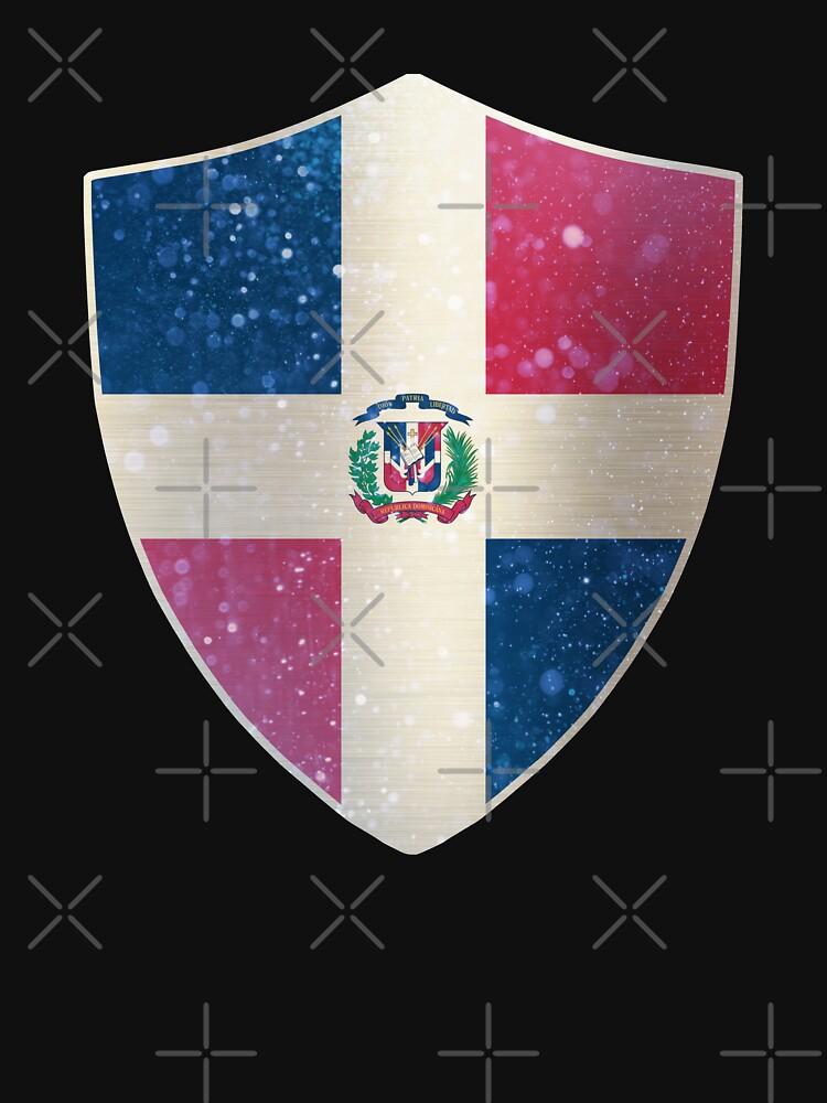Dominican Flag Shield by ockshirts