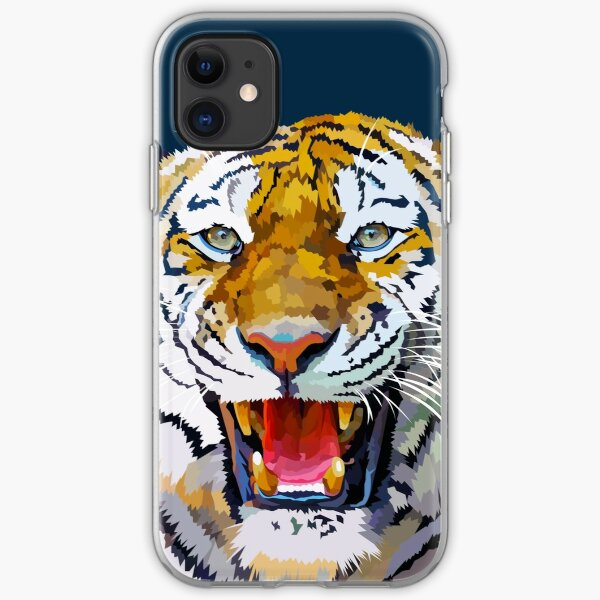 Roaring tiger iPhone Soft Case