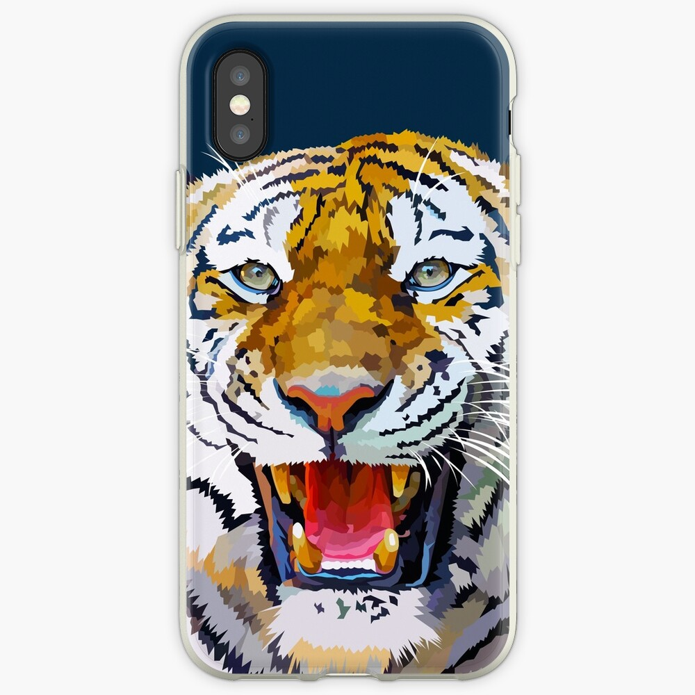 Roaring tiger iPhone Case & Cover