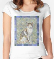 Calico Cat Fitted Scoop T-Shirt