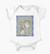 Calico Cat Short Sleeve Baby One-Piece