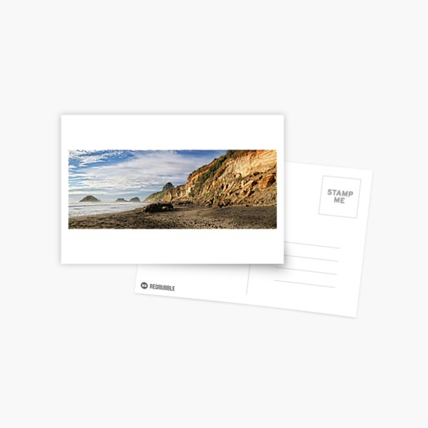 Back Beach Coastline Postcard