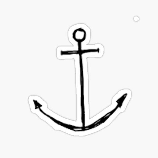 Small Anchor Sticker