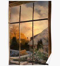 Winter sunset - Belgium Poster
