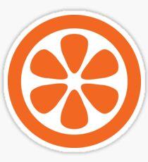 Scandi Midcentury Modern Retro Geometric Orange Sticker