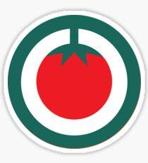 Scandi Midcentury Modern Retro Geometric Tomato Sticker