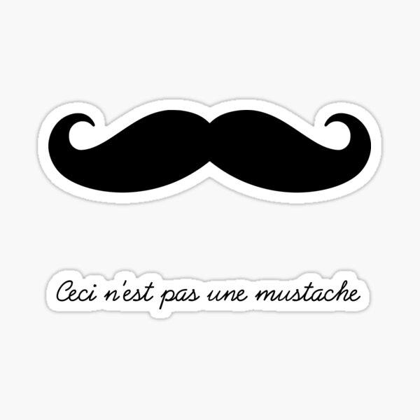 Ceci n'est pas une mustache Sticker