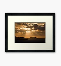 Morning rays of light Framed Print