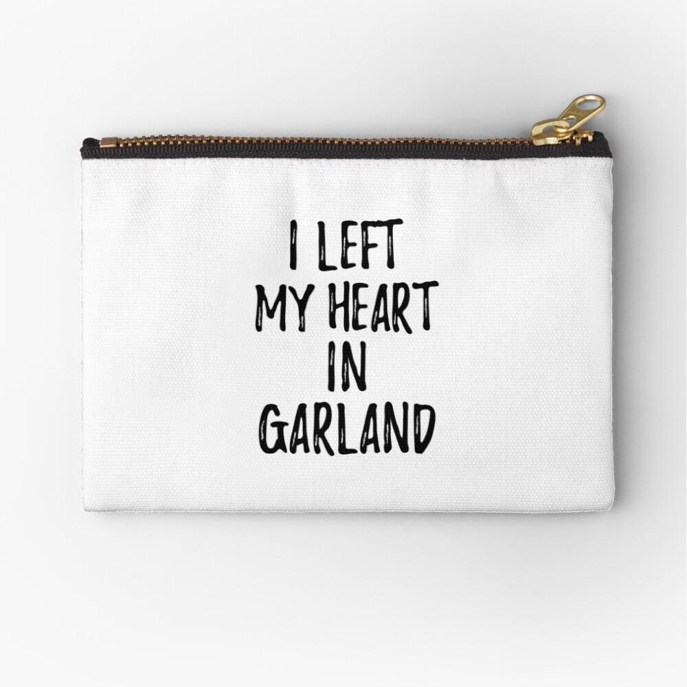 I Left My Heart In Garland Nostalgic Gift for Traveler Missing Home Family Lover Täschchen