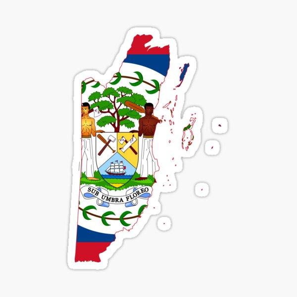 Belize Flag Map  Sticker