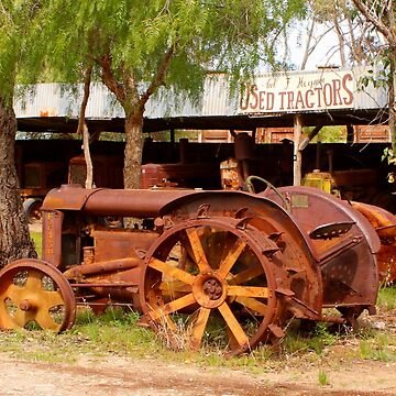 Old rusty tractor by FranWest