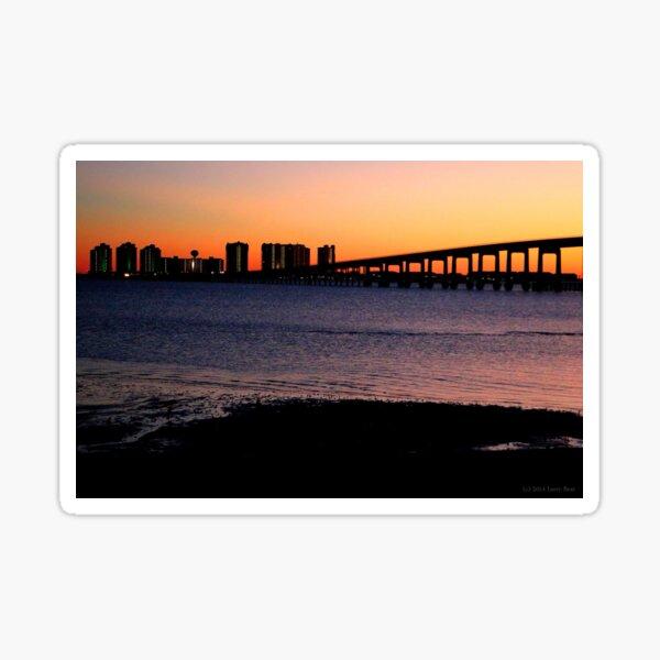 Sunset City Sticker