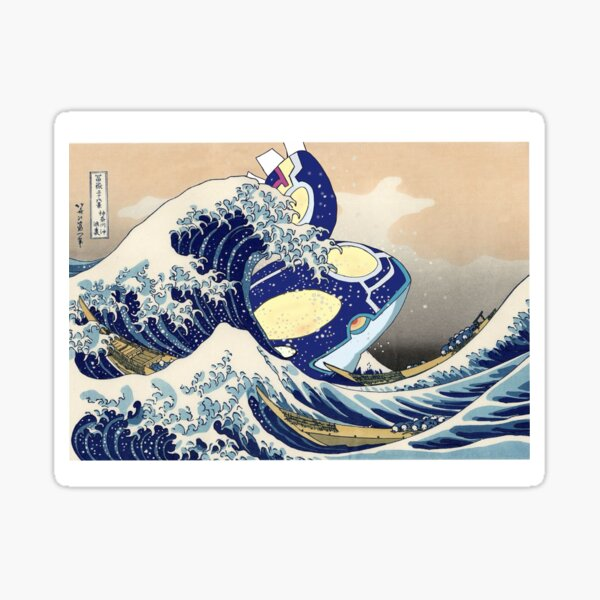 The Great Wave of Kyogre Sticker