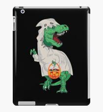 T-Rex Süßes oder Saures im Geisterkostüm iPad-Hülle & Klebefolie