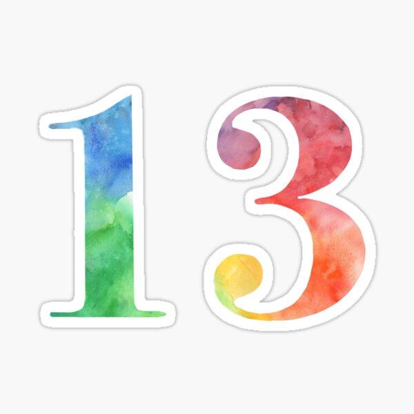 acuarela del arco iris 13 Pegatina