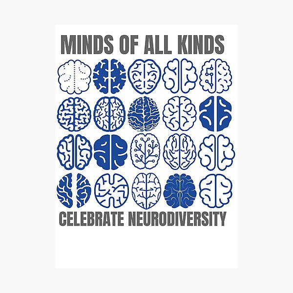 Celebra la neurodiversidad Lámina fotográfica