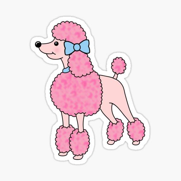 Pretty Pink Poodle Sticker