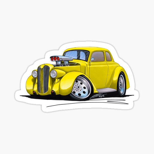 1936 Plymouth Coupe (B) Yellow Sticker