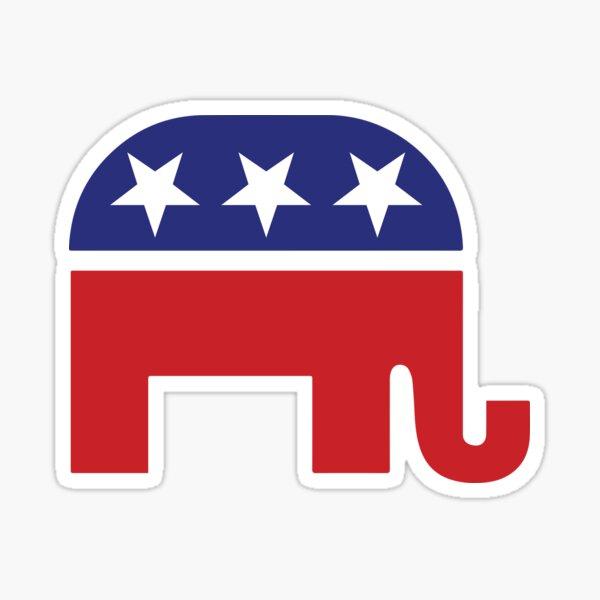 Republican Original Elephant Sticker