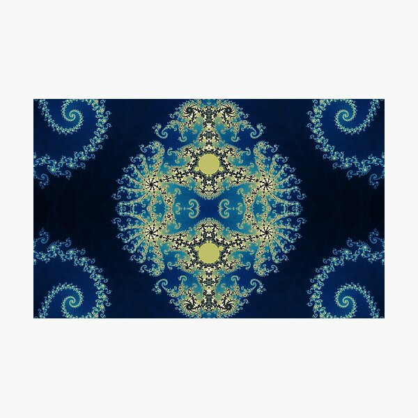 Blue Mandlebrot Photographic Print