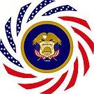 Utah Murican Patriot Flag Series by Carbon-Fibre Media